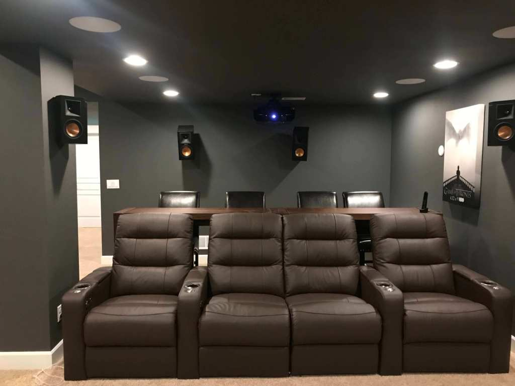 The Sound System Setting - Basement home theater designs