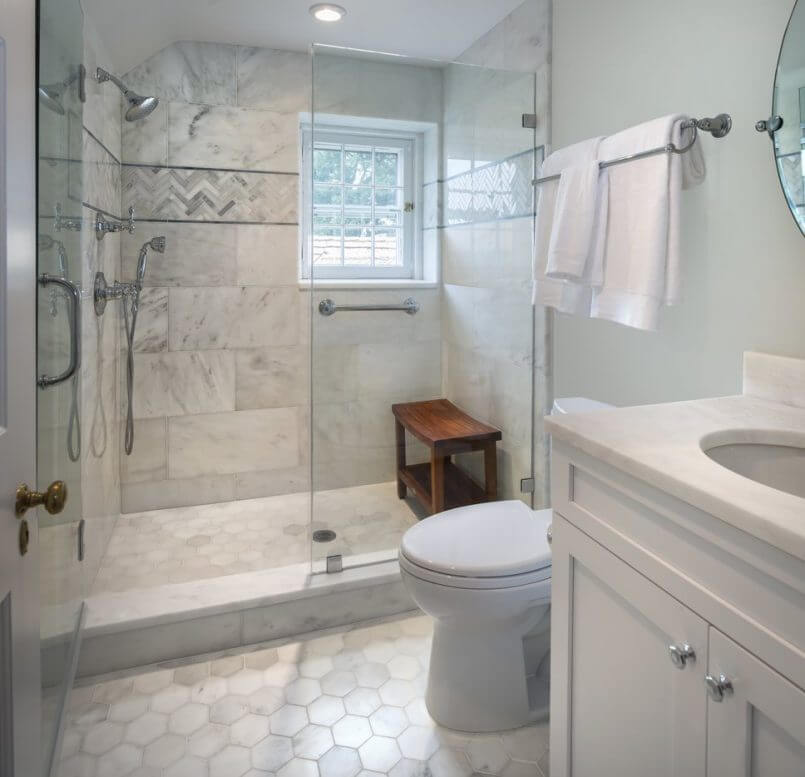 Different material remodel bathroom