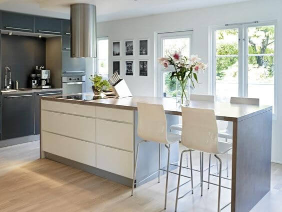 Surprising contemporary kitchen island with seating #kitchen #kitchenisland #kitchendesign #kitchenideas