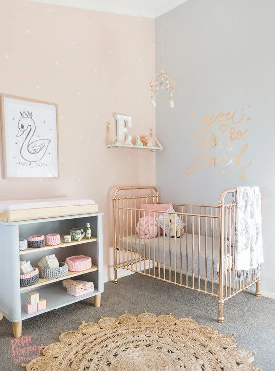 baby girl nursery ideas grey