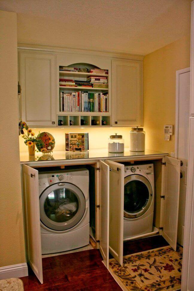 Excited small laundry mudroom ideas