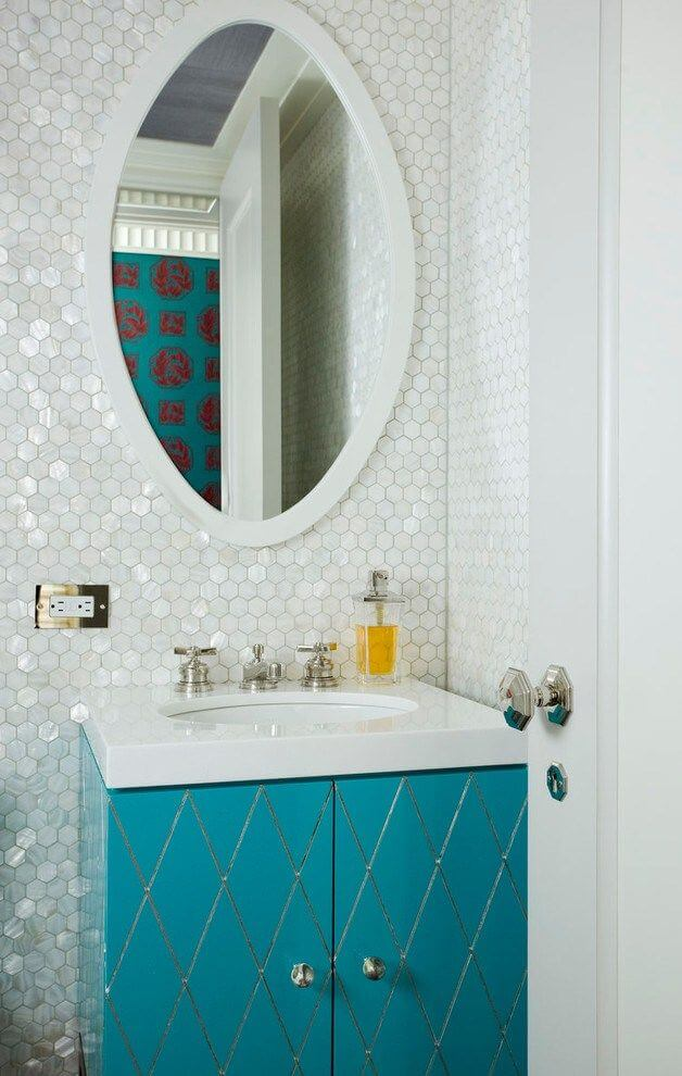 small Turquoise bathroom vanity mirror ideas