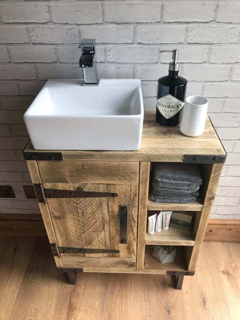 Industrial Vanity for Rustic Bathroom