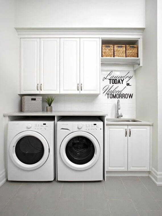 Wonderful small laundry room ideas on a budget