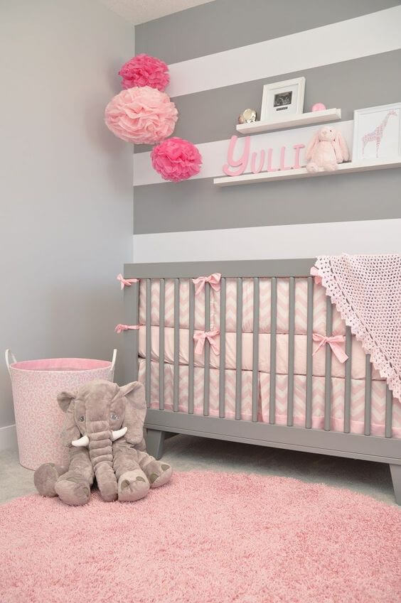 baby girl nursery wall ideas