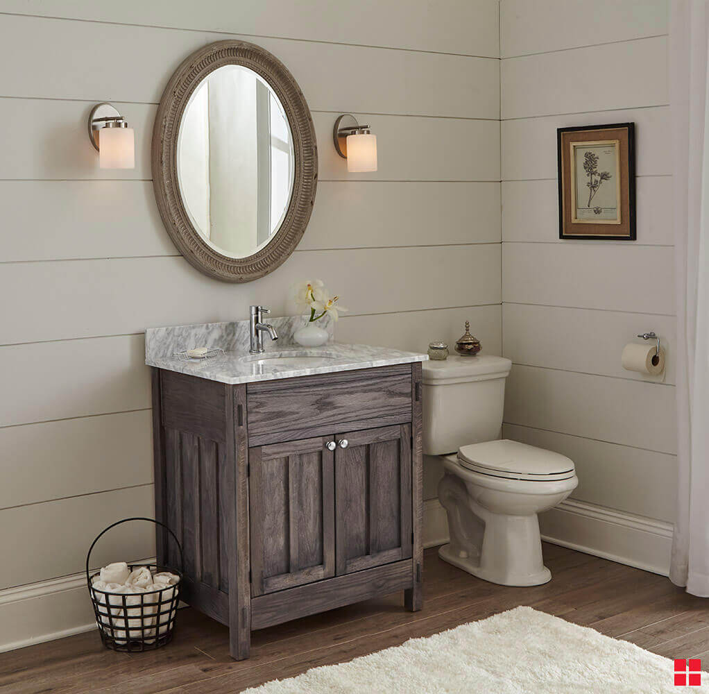 Weathered Bathroom Vanity Bathroom Vanity with Country Style