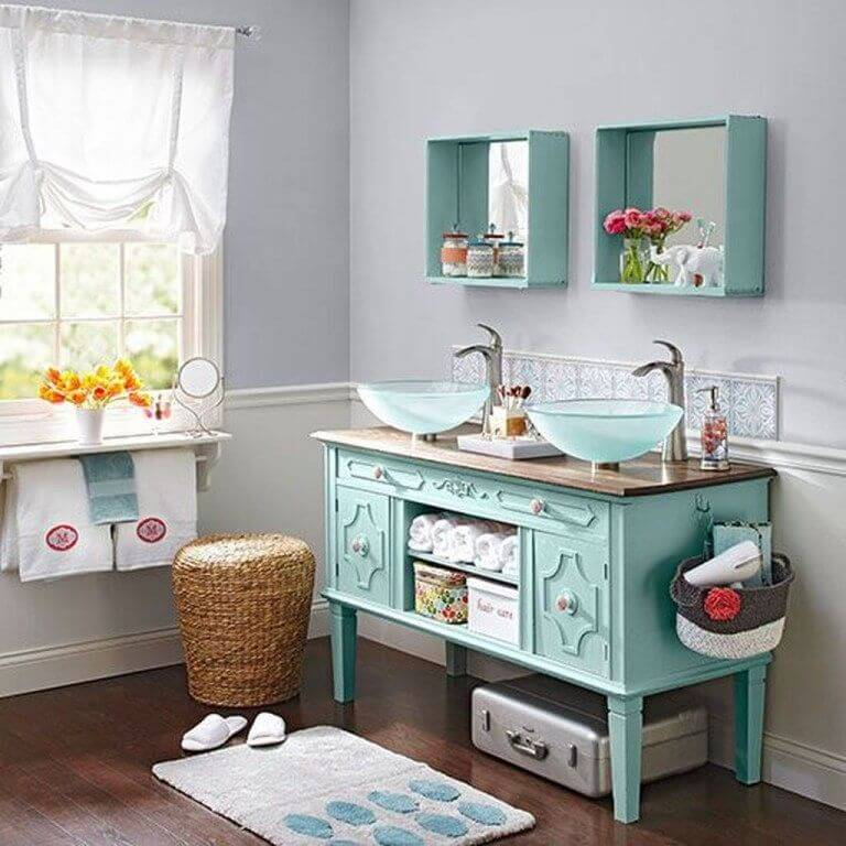 Amazing DIY Refurbished bathroom vanity ideas