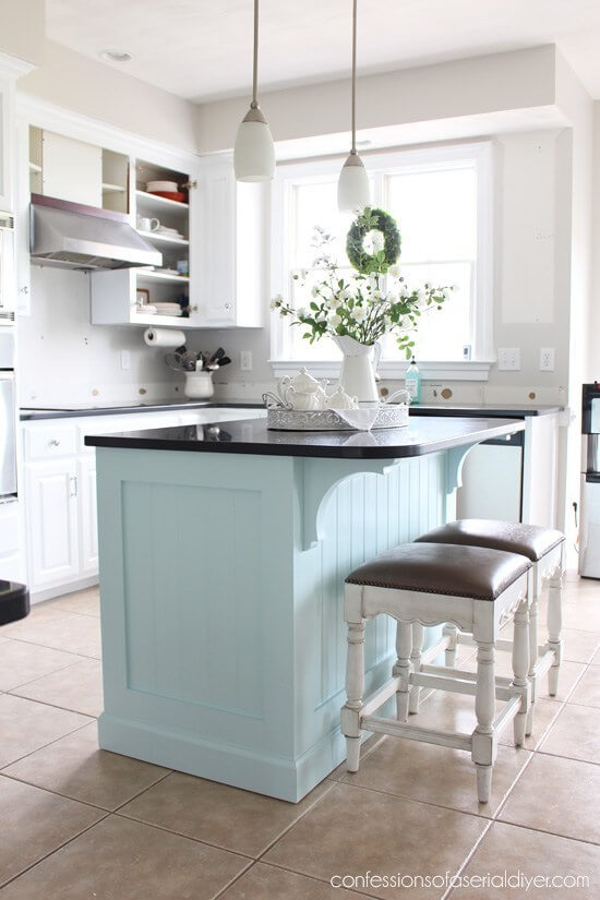 Small Kitchen Island with Beadboard