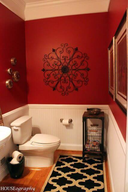 Red and Black Bathroom Color Ideas