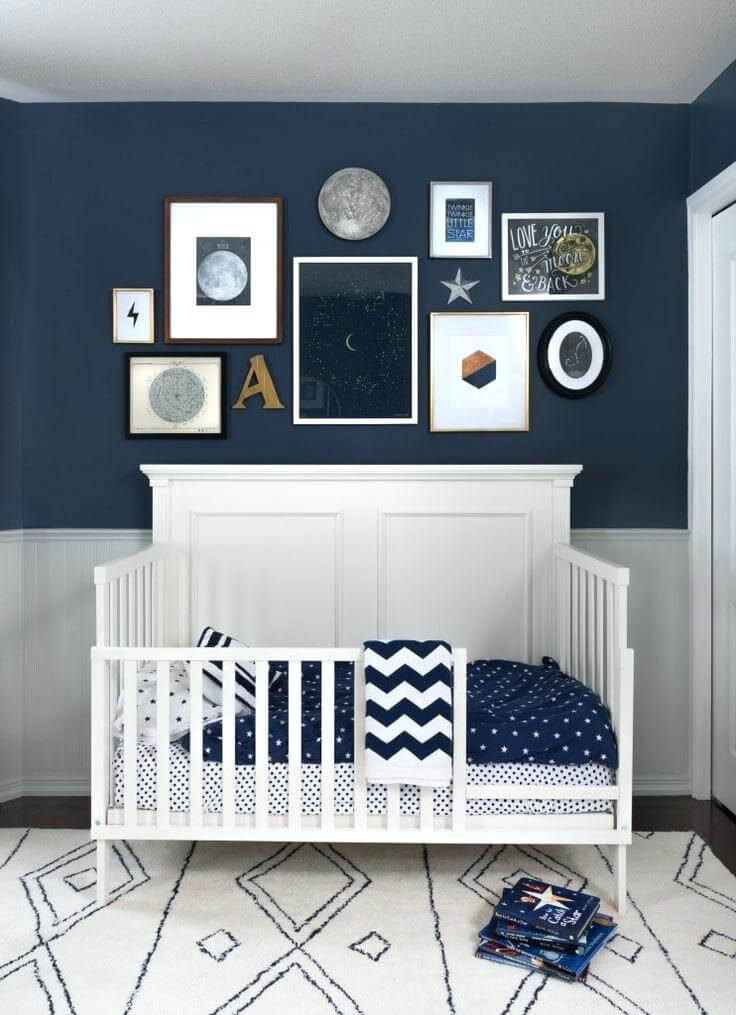 Unique baby boy nursery color ideas