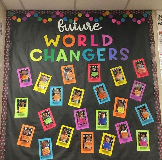 Motivational board for classroom decor