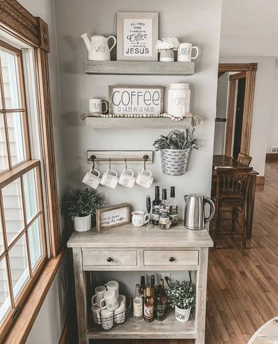 Home Coffee Bar Design Ideas: 30+ Best Home Coffee Bar Ideas For All Coffee Lovers