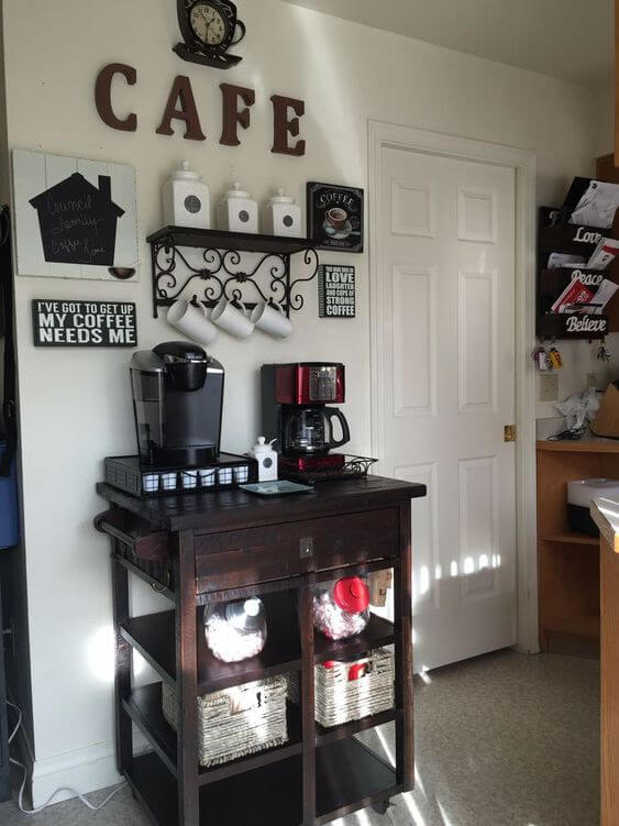 Astonishing small cabinet and cafe sign