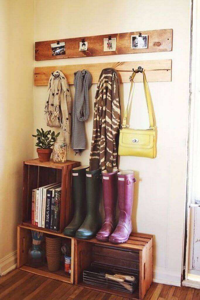 Coat Hanger and Storage Box DIY Home Decor Ideas