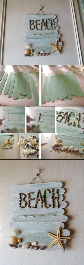 DIY Wall Art Décor Made With Popsicle Sticks