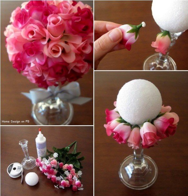 DIY Simple Flower Ball Bouquet