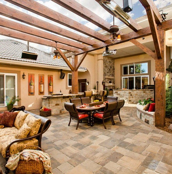 Astonishing outdoor patio ground ideas