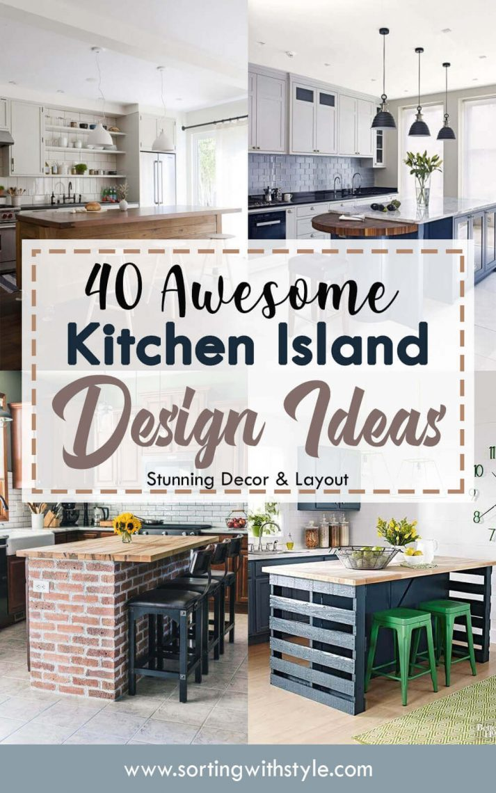 40 Awesome Kitchen Island Design Ideas