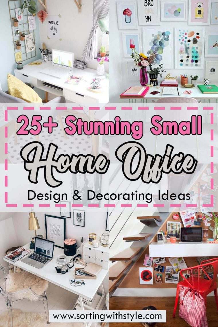 25 Stunning Small Home Office Design & Decorating Ideas (For Men & Women)