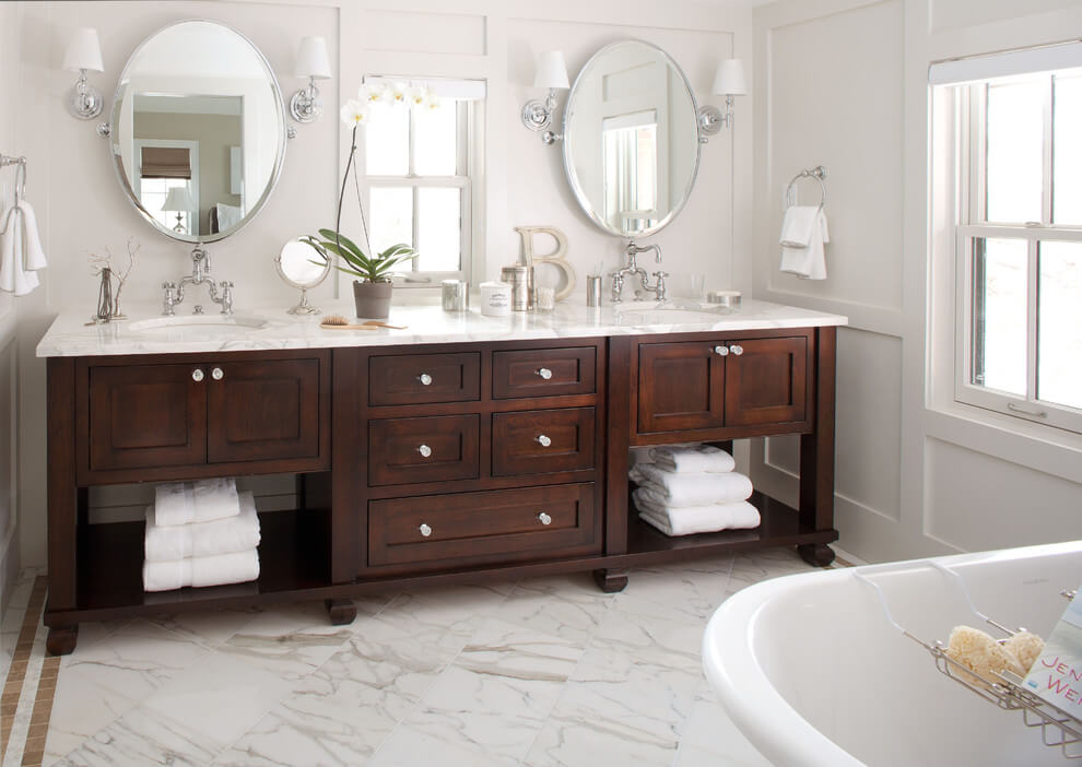 Stunning oval bathroom mirrors