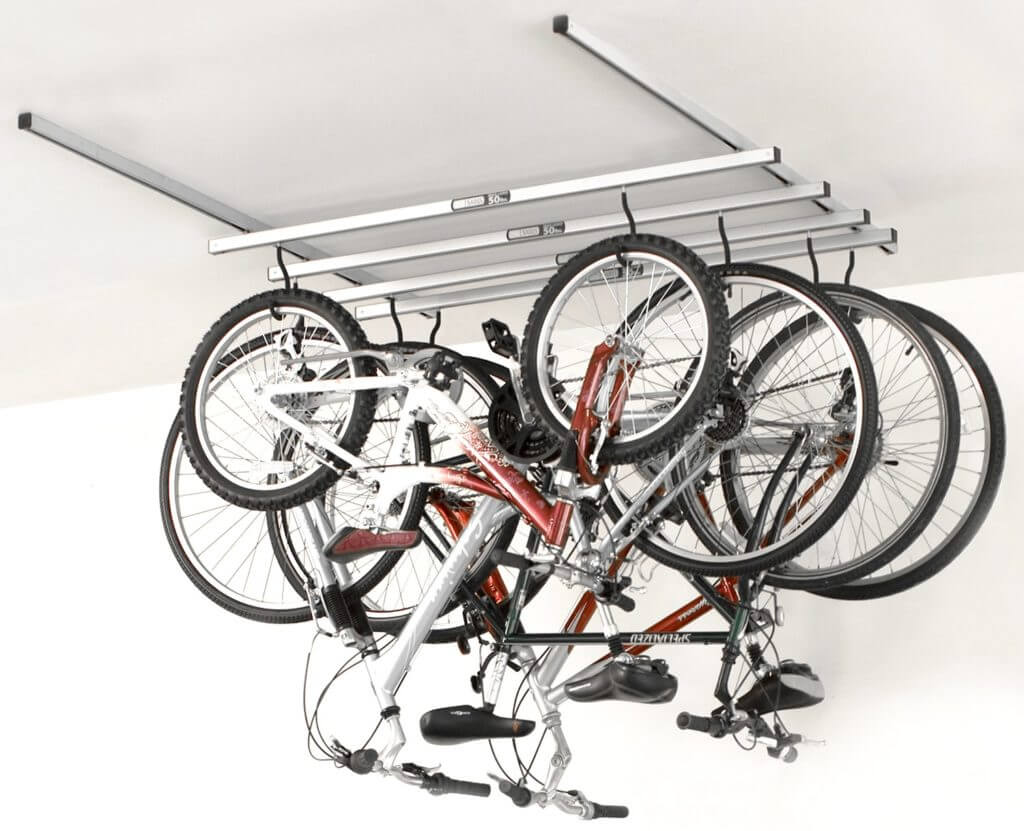 ceiling garage storage bike hangers e28094 the better garages bike