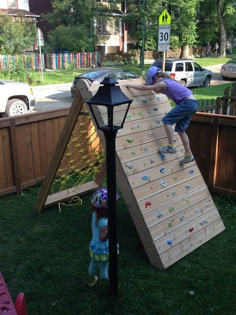 Wall Climbing for Kids - backyard playground ideas for kids