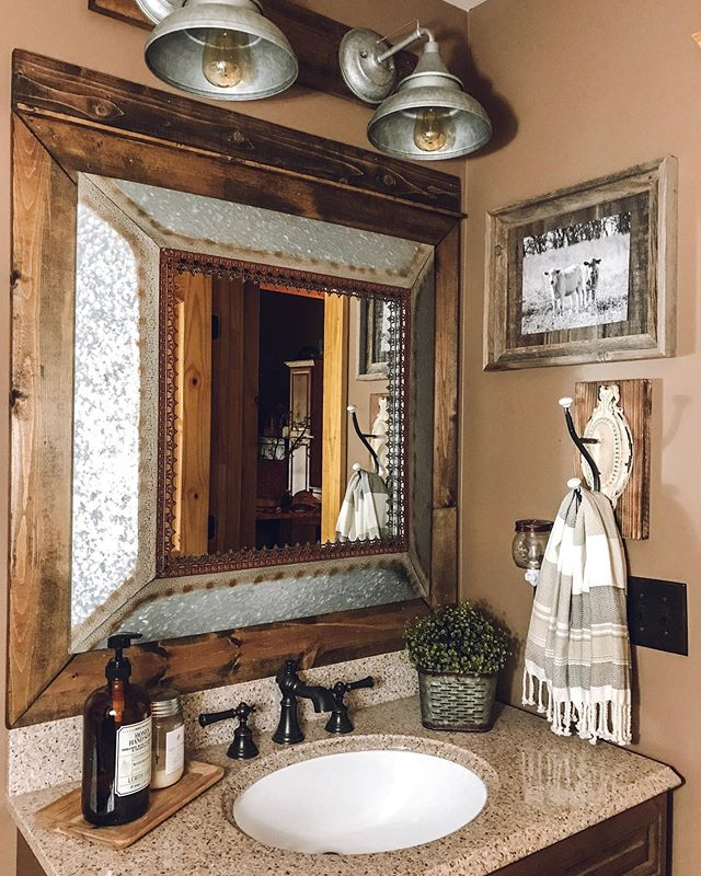 rustic farmhouse bathroom sink