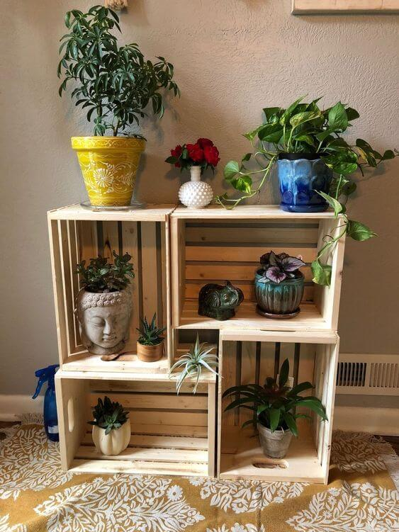 diy plant stand wood pallet