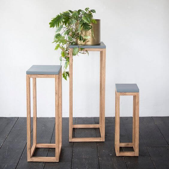 artsy plant stand