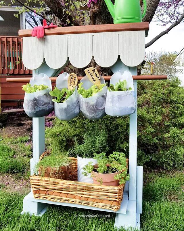 diy plant stand outdoor