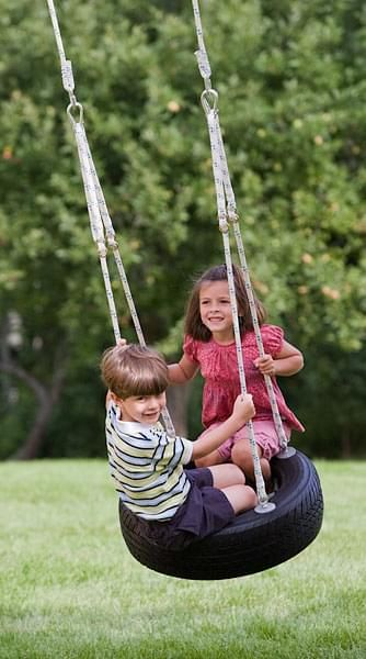 Circle Tire Swing for kids
