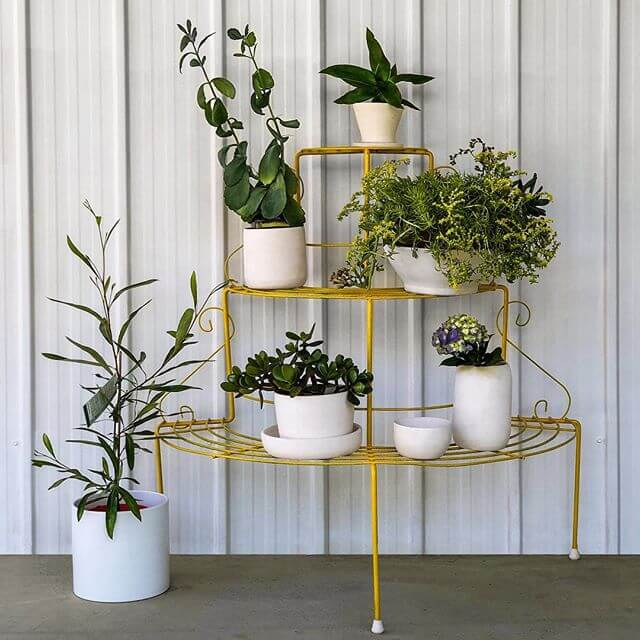 diy metal tiered plant stand