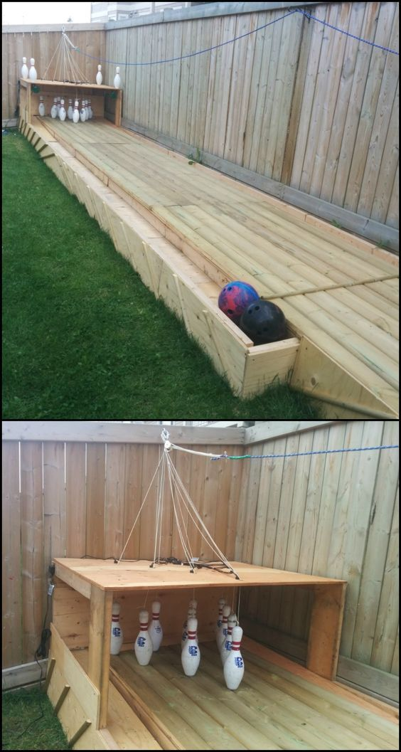 Backyard Bownling DIY Playground