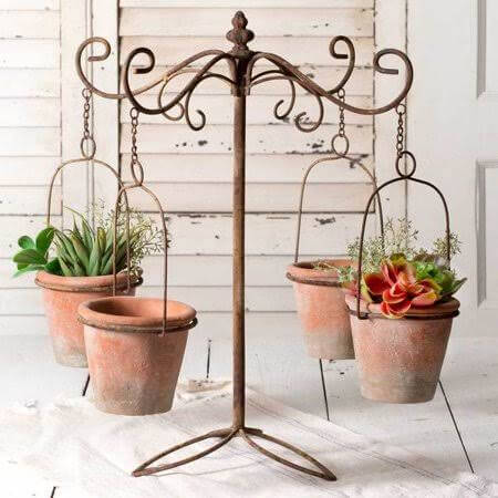 diy plant stand vintage style