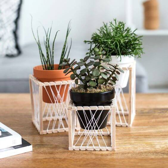 creative diy plant stands