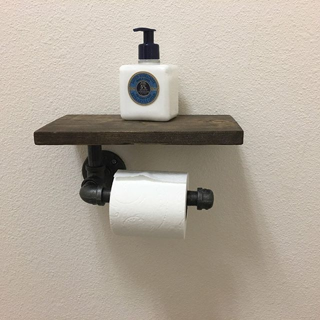 DIY Soap and Toilet Tissue Holder
