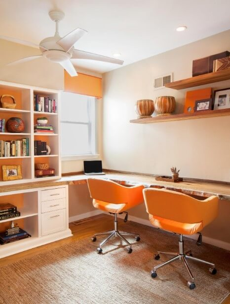 Attain Comfort with Orange Home Office