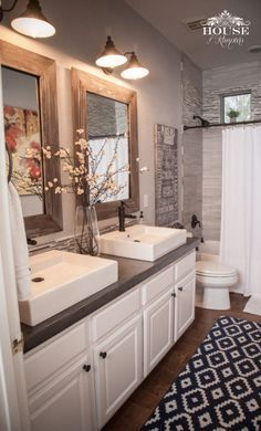 Rustic Accents Gray Bathroom