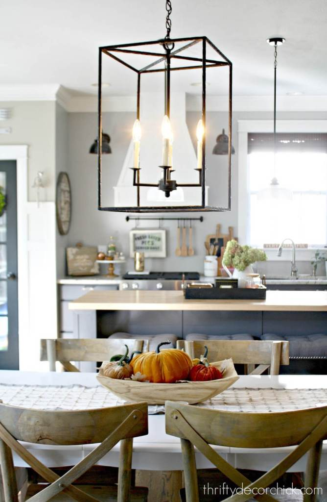 Table pendant lighting and hadley light