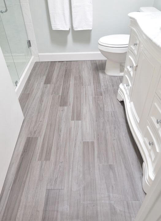 Vinyl Flooring - Gray Bathroom