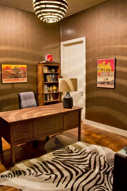Stunning brown home office
