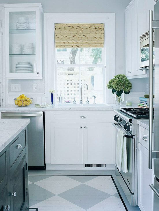 Let the Floor Be the Focal Point - Kitchen flooring idea