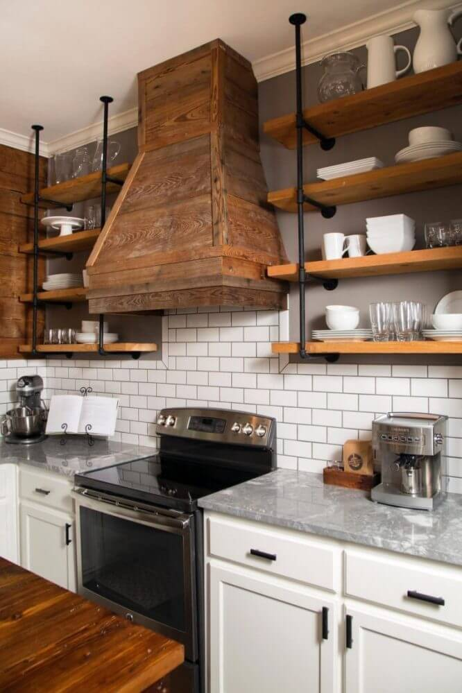 Open Shelving kitchen remodel