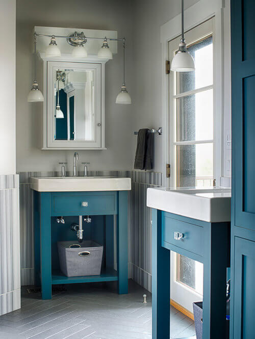 Perfect Teal bathroom paint colors