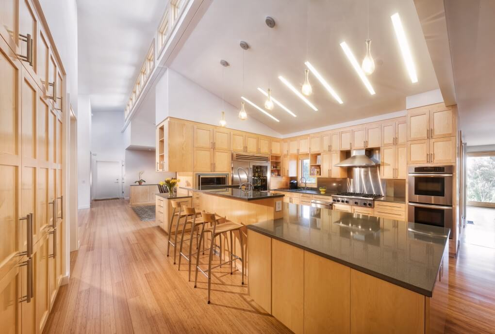 Sloped ceiling lightings for kitchen