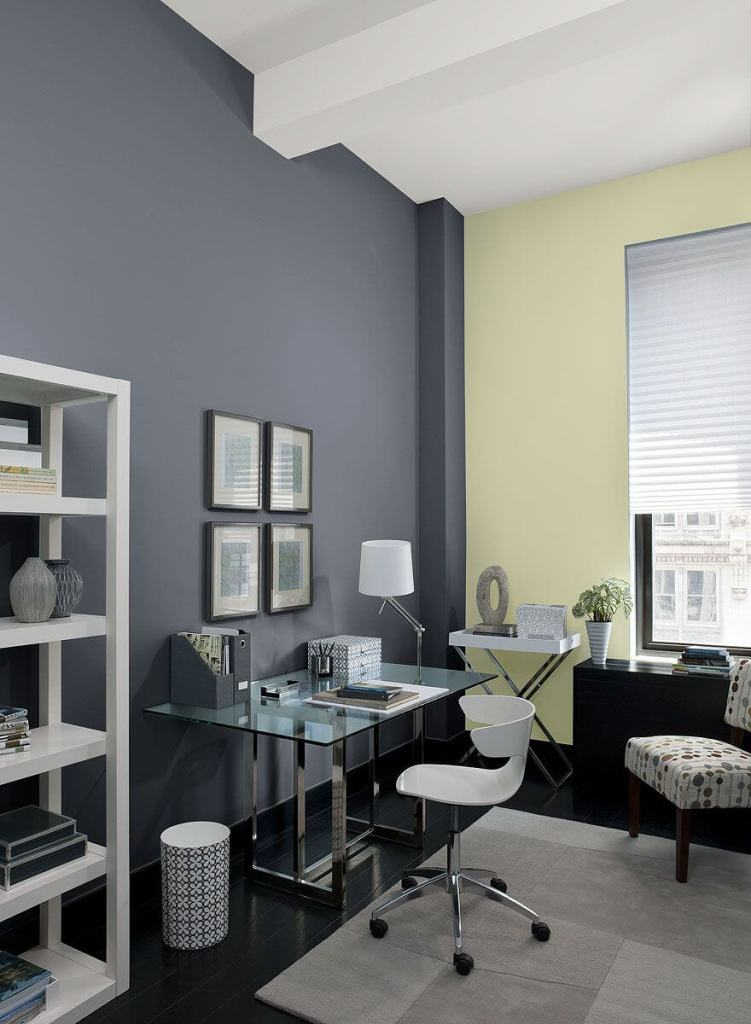 gray home office paint color