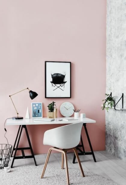 Chic Blush Pink Home Office