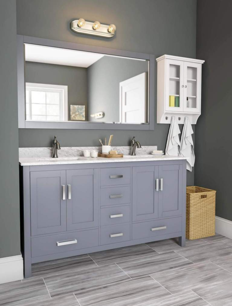 Sensational bathroom ideas with gray vanity