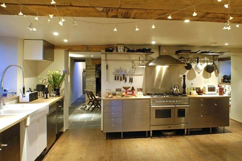 String lights for kitchen lighting ideas