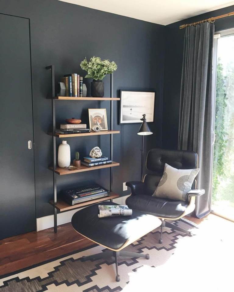 Dark Blue home office colors